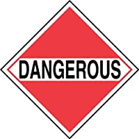 Accuform Signs MPLM01CT1 PF-Cardstock Mixed Loads DOT Placard Legend DANGEROUS 10-3/4 Width x 10-3/4 Length Black on White/Red [並行輸入品]