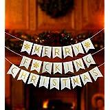 楽しいメリークリスマスバナー – メリーF*cking クリスマスバナー – クリスマスゴールドグリッターバナー – クリスマスデコレーション用品