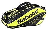 バボラ(Babolat) テニスバッグ ピュア アエロ・ライン ラケットバッグ(9本収納可) BB751115 ブラック×イエロー
