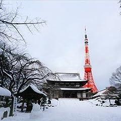 【日本の風景ポストカードAIR】東京タワーと雪の葉書ハガキはがき photo by MIRO