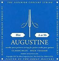 【国内正規品】バラ弦 AUGUSTINE オーガスティン クラシックギター弦 BLUE HIGH TENSION 5弦(A)