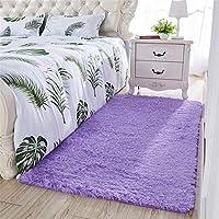 インド カーペット モダン ラグ廊下 ラグ 50X160cm 厚く洗った絹の髪のカーペットのリビングルームのコーヒーテーブルの寝室の床のマットフローティング窓ベッドサイドの毛布いっぱい畳白白長方形