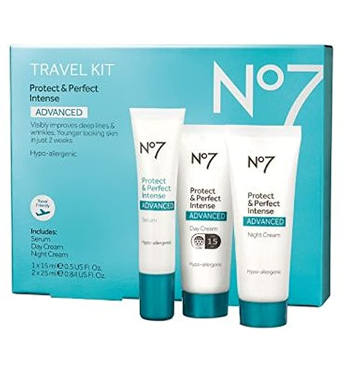 No7保護&完璧な強烈な高度な旅行キット (No7) (x2) - No7 Protect & Perfect Intense ADVANCED Travel Kit (Pack of 2) [並行輸入品]
