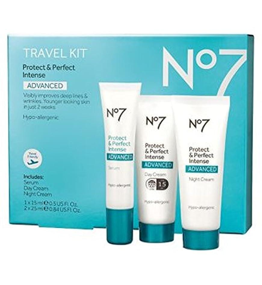 不安テザーローラーNo7保護&完璧な強烈な高度な旅行キット (No7) (x2) - No7 Protect & Perfect Intense ADVANCED Travel Kit (Pack of 2) [並行輸入品]