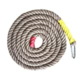 (アワンキー) Aoneky クライミング ノット ロープ ジムロープ 室内 アウトドア 登り スポーツ 練習 (イエロー, 直径3cmx長さ4m)