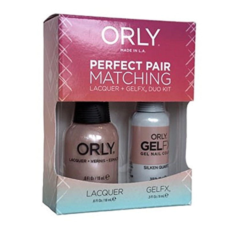 オンス困った三Orly - Perfect Pair Matching Lacquer+Gel FX Kit - Silken Quartz - 0.6 oz / 0.3 oz