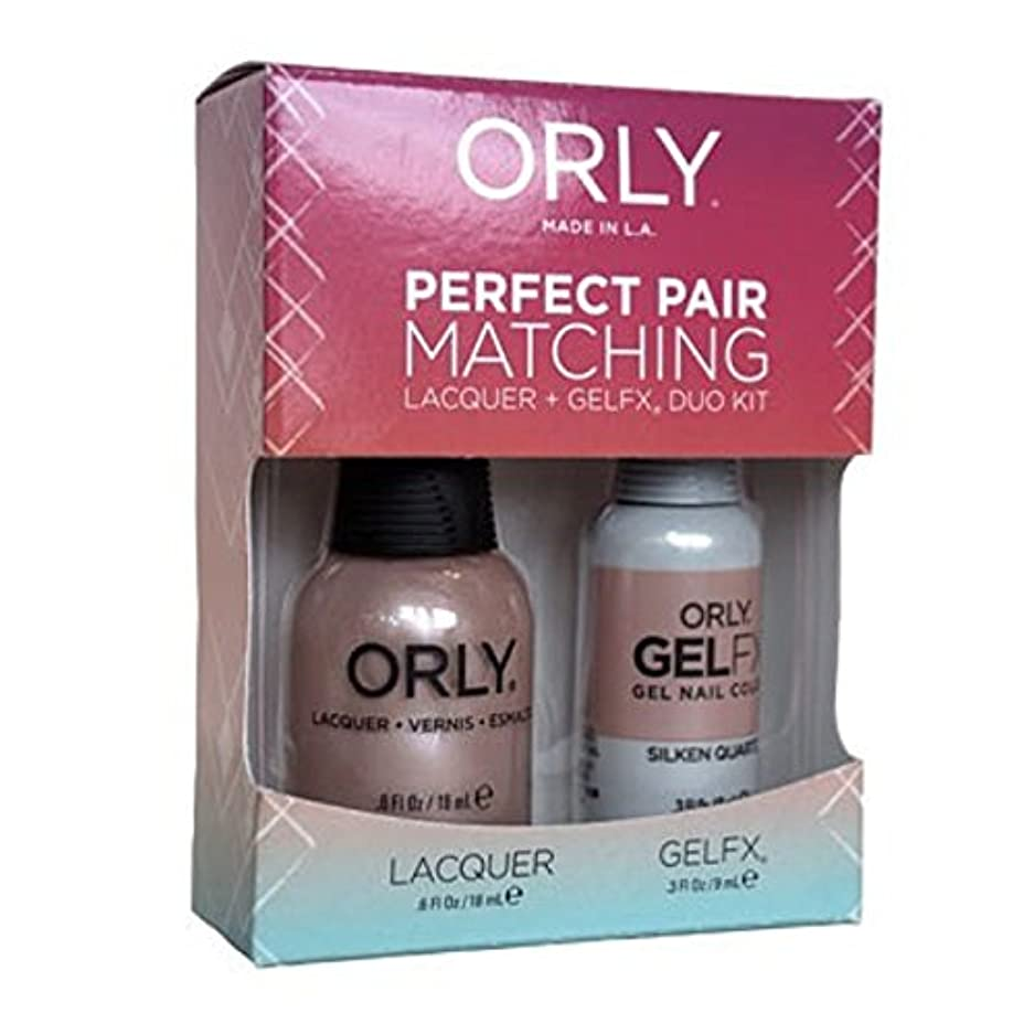 繁栄する羊よろめくOrly - Perfect Pair Matching Lacquer+Gel FX Kit - Silken Quartz - 0.6 oz / 0.3 oz