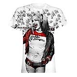 (スーサイド・スクワッド) Suicide Squad オフィシャル商品 メンズ ハーレイ・クイン Hahaha 半袖 Tシャツ (L) (ホワイト)