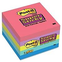 Wholesale CASE of 20–3M Post - itスーパー付箋3x 3ジュエルポップColl。pads-superスティッキーパッド、3「x3」、5/ PK, 90/シートパッド、アソートカラー