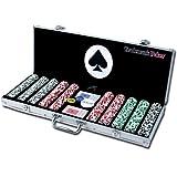 商標ポーカー4Aces 50011.5G Poker Chipセットwith Aluminumケース