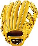 ZETT(ゼット) 軟式野球 プロステイタス グラブ (グローブ) 新軟式ボール対応 セカンド・ショート用 トゥルーイエロー(5400) 右投げ用 BRGB30960