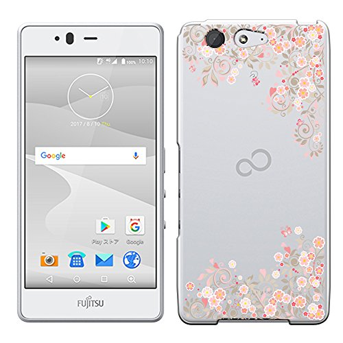 [Breeze-正規品] iPhone ・ スマホケース ポリカーボネイト [透明-Pink] ARROWS M04 ケース アローズ M04 富士通 arrows M04 SIMフリーカバー 液晶保護フィルム付 全機種対応 [M04]