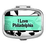 I 愛ハート場所 - フィラデルフィア - 長方形ピルボックス