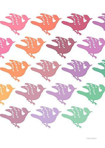 【DM便送料0円】正倉院文様 ポスター 鳥 カラー A4サイズ