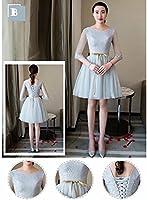 【ノーブランド品】膝丈ドレス 締上げタイプ グレードレス スリムミニマリスト パーティードレス ワンピース 結婚式 ドレス 二次会 お呼ばれ 2XL タイプB