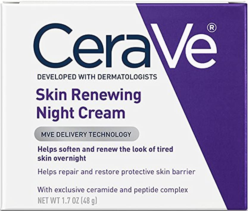 エステート単語闇CeraVe Skin Renewing Night Cream, 50ml by CeraVe