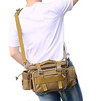 (kakumaカクマ)ルアーエギングバッグ フィッシングバッグ 3WAY 多機能 丈夫 防水 釣りバッグ ドリンクホルダー付き ウエストバッグ ガジェットバッグ/カメラ入れ/バス釣りに最適 5カラー