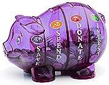 子供金融教育貯金箱 (Purple)