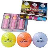 LEZAX(レザックス) FLYING RAIDERS 非公認高性能高反発2ピースゴルフボール 3色カラー(イエロー2個、オレンジ2個、ブルー2個) 計6個入りパック FRBA-2117