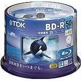 TDK 録画用ブルーレイディスク ハードコート仕様 BD-R 25GB 1-4倍速 ホワイトワイドプリンタブル 50枚スピンドル GBRV-25PWB50PF