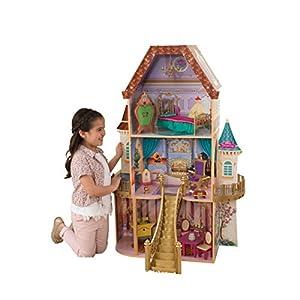 キッドクラフト ディズニー プリンセス 美女と野獣 ベルのファンタジードールハウス 【女の子 ままごと 木製 ごっこ遊び】 KidKraft Belle Enchanted Dollhouse 正規品