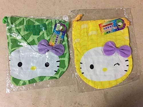同梱不可キティ巾着袋ご当地 北海道限定 メロンとうもろこし