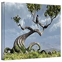 ArtWall シンシア デッカーの座る木 ギャラリー布キャンバス 16インチ x 24インチ