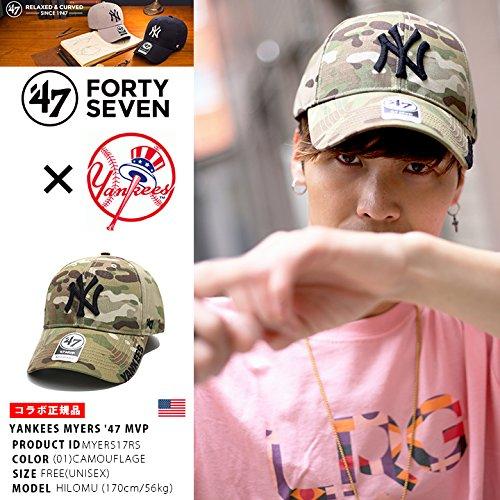 【MYERS17RS】 フォーティーセブンブランド 47BRAND ローキャップ ニューヨーク ヤンキース 帽子 CAP ベースボール MLB 正規品 (01)迷彩 Fサイズ