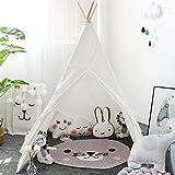 lebze Kids Teepee Children Playテント, IndianキャンバスPlay Tent withマット& Carry Case forインドアアウトドアクリスマス装飾