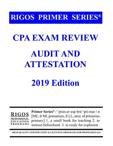 Download Rigos Primer Series CPA Exam Review - Audit and Attestation 1541173163