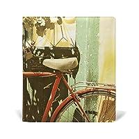 旅立の店 ブックカバー レザー 文庫カバー フリーサイズ ドア前の自転車 午後の日差し 上品 おしゃれ 本好きなあなたに 学生