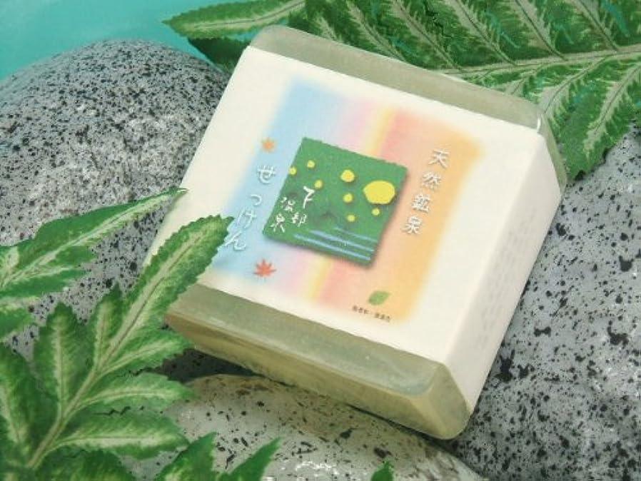 食い違い従事した財布下部(しもべ)温泉石鹸 無添加 透明石鹸 100グラム