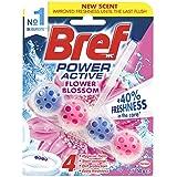 Bref Power Active Flower Blossom Rim Block Toilet Cleaner, 50g