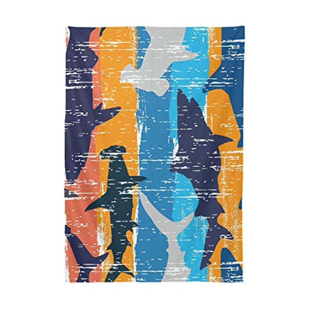つぶやき氏中Mskyoo テーブルクロス サメ シャーク 撥水 北欧 耐熱 テーブルカバー 食卓カバー テーブルマット 汚れ防止 防油 洗える インテリア 食事用 正方形 長方形 家庭用 レストラン用 150x305cm