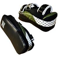 Ultima mim-foam快適ウルトラレザーカーブタイパッド、MMA、タイ式、用Kickboxing
