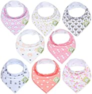 KeaBabies Baby Bandana Drool Bibs For Girls - Super Absorbent Organic Cotton Bandana Bibs - Baby Drool Bib - T