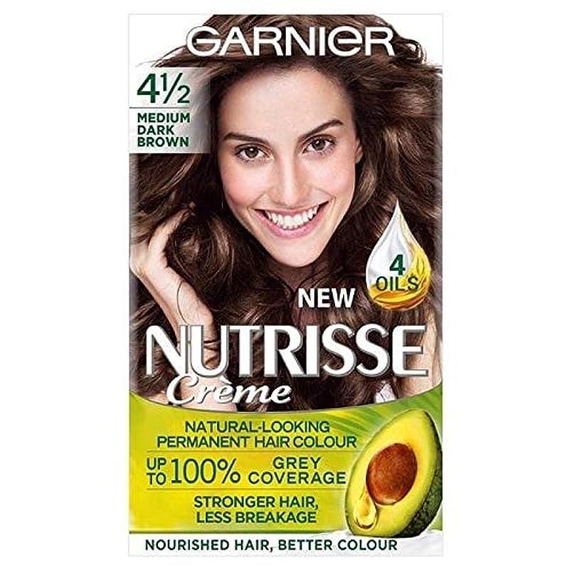 電子レンジアナニバートランクライブラリ[Garnier ] ガルニエNutrisseパーマネント染毛剤中ダークブラウン4 1/2 - Garnier Nutrisse Permanent Hair Dye Medium Dark Brown 4 1/2 [並行輸入品]