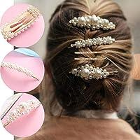 Pearl Barrette, Womdee Pearl Hair Accessories Pearl Hair Pins