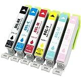 officeネット IC6CL80 / IC6CL80L(BK/C/M/Y/LC/LM) 6本組 互換インク 増量タイプ IC80 エプソン用