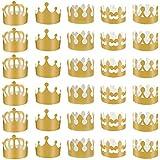 obmwang 30ピース ゴールド ペーパークラウン 調節可能 ゴールデン パーティー クラウン 帽子 ベビーシャワー 写真小道具 誕生日パーティー お祝い 5スタイル