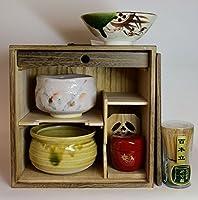 茶道具セット 焼桐色紙ダンス茶道具セット2 黒塗り