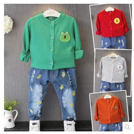 キッズファッション 秋 セットアップ 可愛いニットシャツ