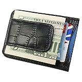 Vodux マネークリップ付きカードケース パスケース(定期入れ)付 クロコ風 ブラック Money Clip