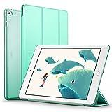 iPad Air2 ケース クリア ESR iPad Air2 カバー レザー PU 軽量 スタンド機能 オートスリープ 傷つけ防止三つ折タイプ 選べる5色 iPad Air2専用スマートカバー(ミントグリーン)