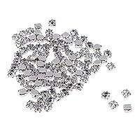 FLAMEER ラインストーン 50/100個 ビーズ アクリル 細工 クラフト 装飾 手縫い 貼り クリア 全4選択   - 6mm 100個
