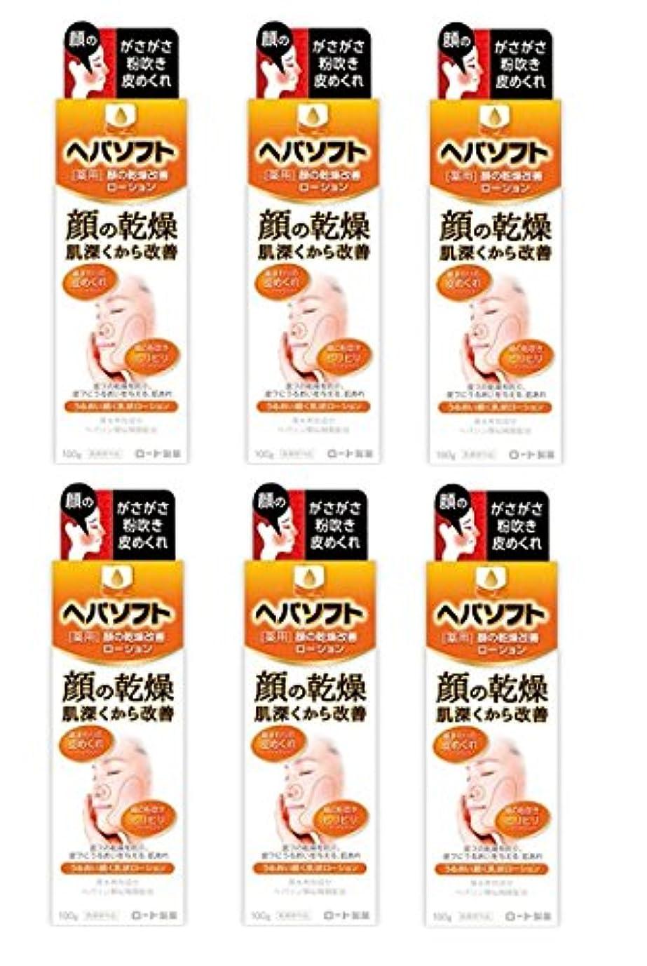 【まとめ買い】ヘパソフト 薬用 顔ローション 100g【医薬部外品】×6個