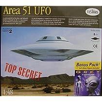 Area 51 1/48th Scale UFO with 18cm Tall Grey Alien Figure Bonus Pack