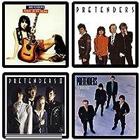 The Pretendersコースターギフトコレクションアルバムカバー–( 4)異なる再現onto吸収性、ソフト、ドリンクコースター