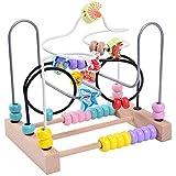 Xyanzi 子どもおもちゃ 木のおもちゃ、幼児用教育玩具ビーズ迷路ジェットコースター木ビーズ迷路誕生日プレゼント用男の子&女の子 (色 : D)