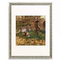 ジョン・ラヴェリー Sir John Lavery 「On the Loing. 1884」 額装アート作品